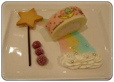 キキララ、ロールケーキ