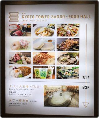 京都タワー、京の美食、グルメ