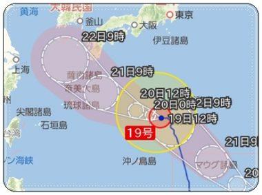 台風19号、2018年