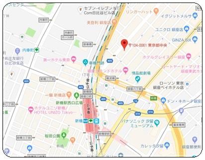 新橋周辺地図