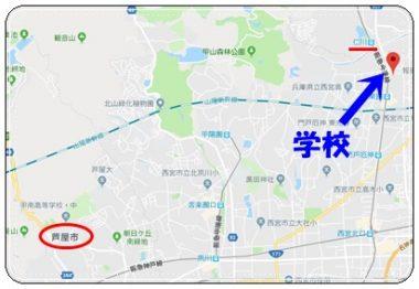 仁川学院界隈の地図
