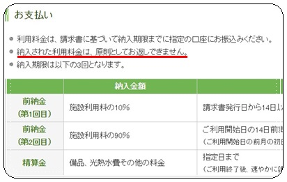 新潟コンベンションセンターキャンセル料