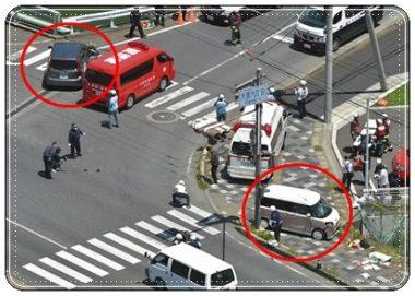 大津市大萱の事故現場
